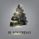 Glow box pyramid Stock Photography