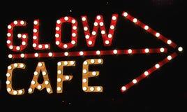 Glow Cafe Royalty Free Stock Photos