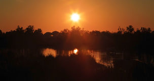 After Glow of Camargue Sunset Royalty Free Stock Photography