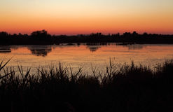 After Glow of Camargue Sunset Royalty Free Stock Photos
