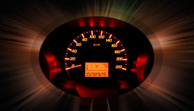 Glow car dashboard Stock Photography