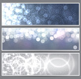Glow christmas banners. Royalty Free Stock Image