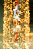 Glow christmas lights with ball and star Royalty Free Stock Photography