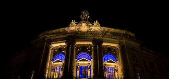 Glow of Church window Berlin Royalty Free Stock Image