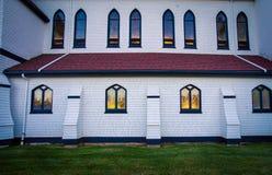 Glow of church window Royalty Free Stock Image