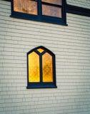 Glow of church window Stock Photos