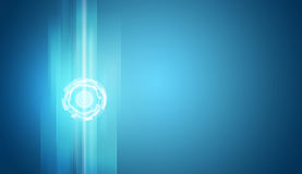Glow circles on blue gradient background Stock Photos