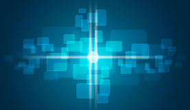 Glow circles and blue rectangles Stock Image