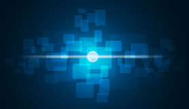 Glow circles and blue rectangles Royalty Free Stock Photography