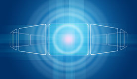 Glow circles and blue rectangles Royalty Free Stock Photos
