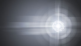Glow circles on gray gradient background Stock Photo