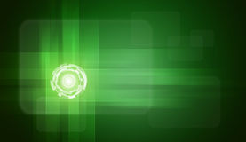 Glow circles on green gradient background Royalty Free Stock Image
