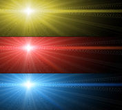 Glow of color star Royalty Free Stock Photo