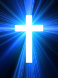 Glow cross. Royalty Free Stock Photo