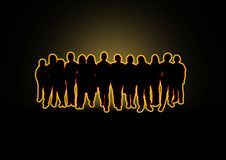 Glow Crowd vector illustration