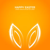 Glow Easter bunny ears Royalty Free Stock Image