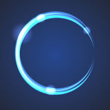 Glow effect eclipse circle vector. royalty free illustration