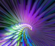 Glow feather royalty free stock images