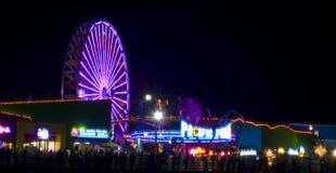 Glow festival Santa Monica stock photos