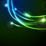 Glow flash neon vector waves shiny template design Stock Photo