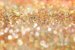 Glow glitter background. Elegant abstract background with bokeh Stock Photography