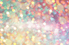 Glow glitter background. Elegant abstract background with bokeh Royalty Free Stock Photography