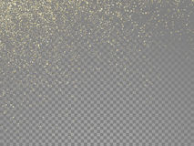 Glow gold particles vector star dust shimmer Stock Photography