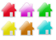 Glow Home Icon Royalty Free Stock Photography