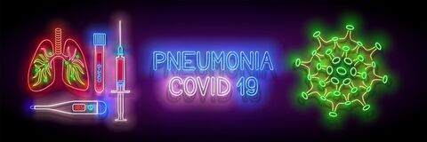 Free Glow Human Lungs With Pneumonia, Covid19 Virus Contamination Stock Photography - 181566952