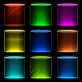 Glow internet buttons. A Badge Set illustration. Vector EPS 10 Vector Illustration