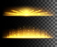 Glow isolated white transparent effect, lens flare, explosion, glitter, line, sun flash, spark and stars. For illustration templat. E art design, banner for Royalty Free Stock Images