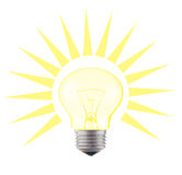 Glow-lamp. Shining glowing glow-lamp luminary Stock Photos