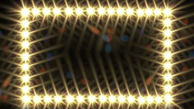Glow light border stock footage