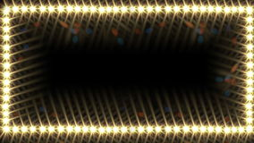 Glow light border. Concert lighting, abstract background, Full HD