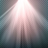 Glow Light Effect. Beam Rays Vector. Sunlight Special Lens Flare Light Effect. Isolated On Transparent Background. Vector Illustra. Light Beam Rays Vector. Light Stock Images
