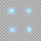 Glow light effect. Christmas flash royalty free illustration