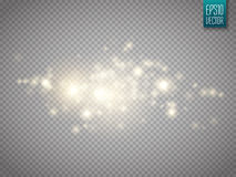 Glow light effect. Cloud of glittering dust. Vector illustration. royalty free illustration
