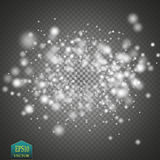 Glow light effect. Cloud of glittering dust. Vector illustration. Christmas Stock Photography