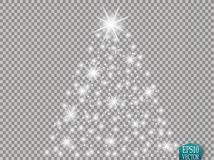 Glow light effect. Cloud of glittering dust. Vector illustration. Christmas. Flash Concept Royalty Free Stock Photography
