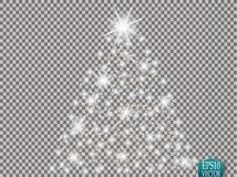 Glow light effect. Cloud of glittering dust. Vector illustration. Christmas. Flash Concept Stock Photography