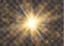 Glow light effect, explosion, glitter, spark, sun flash. Vector illustration. Glow light effect, explosion, glitter, spark, sun flash. Vector illustration stock illustration