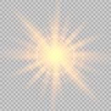 Glow light effect. royalty free illustration
