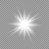 Glow light effect. Star burst with sparkles. Vector illustration stock illustration
