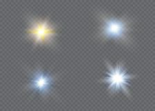 Glow light effect. Star burst with sparkles.Sun. Royalty Free Stock Photography