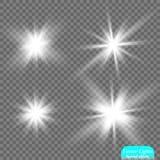 Glow light effect. Star burst with sparkles. Sun Royalty Free Stock Photos
