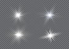 Glow light effect. Star burst with sparkles.Sun. Royalty Free Stock Image