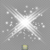 Glow light effect. Star burst with sparkles.Sun.Power energy neon lights cosmic abstract. Royalty Free Stock Photography