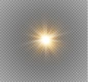 Glow light effect. Star burst with sparkles. Vector illustration. Stock Images