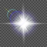 Glow light effect. Starburst with sparkles on transparent background. Vector illustration. Sun. Christmas flash. dust. Eps10. Glow light effect. Starburst with Royalty Free Stock Photo