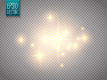 Glow light effect. Vector Christmas flash Concept. vector illustration
